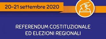 REFERENDUM COSTITUZIONALE ED ELEZIONI REGIONALI DEL 20-21 SETTEMBRE