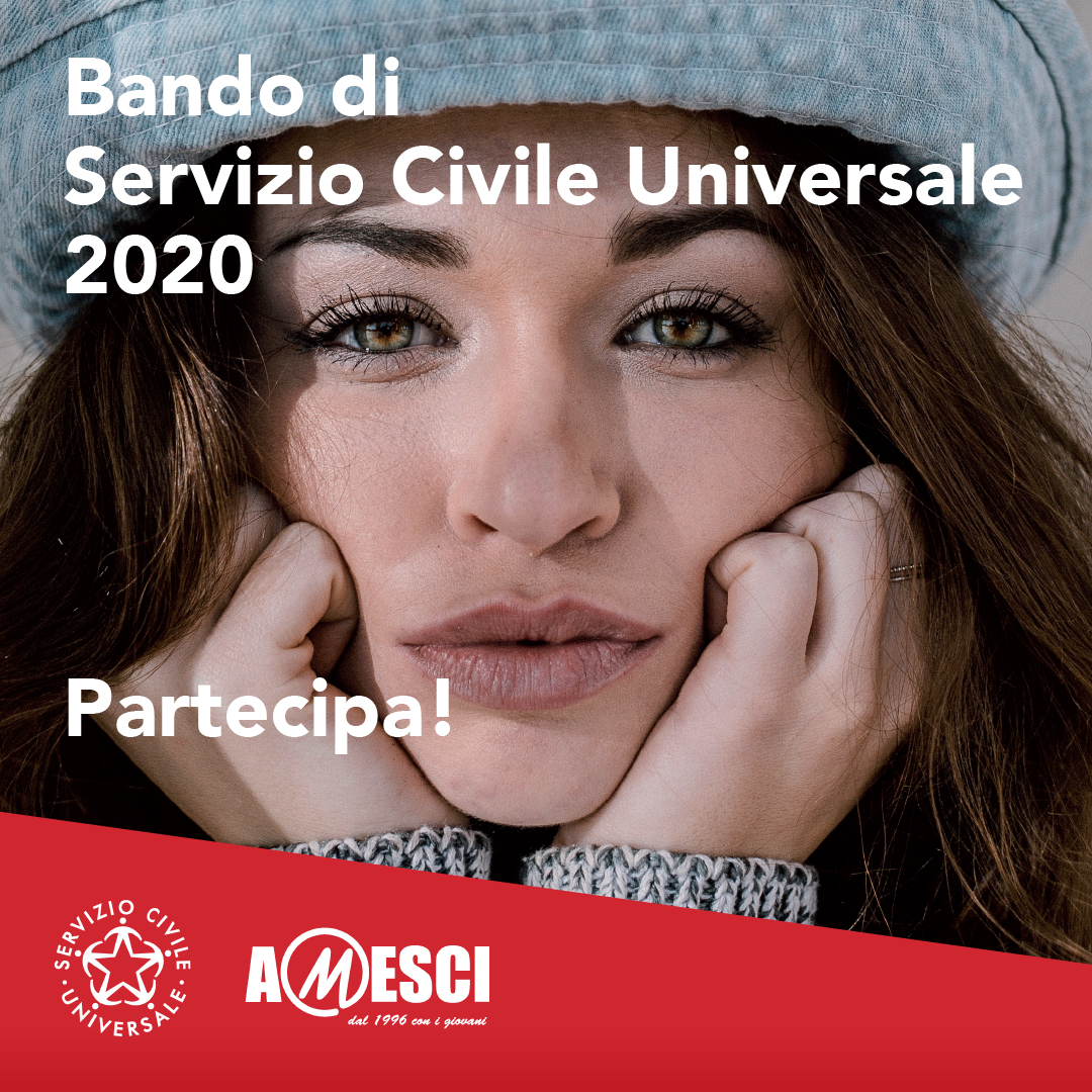 SERVIZIO CIVILE UNIVERSALE: PUBBLICATO  IL BANDO SELEZIONE VOLONTARI 2020